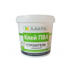 Клей ПВА Строитель универсальный 0,9 кг ЛАКРА