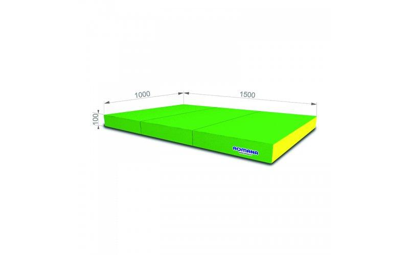 Мягкий щит pro 1*1,5*0,1м тройной (светлозелёный/жёлтый)