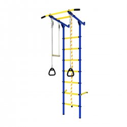 DSK Пристенный с массажными ступенями синий-жёлтый