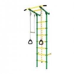 DSK Пристенный с массажными ступенями зелёный-жёлтый