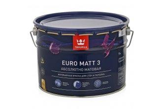 Латексная акриловая водоэмульсия для внутренних работ Тиккурила Euro 3 (9 л)