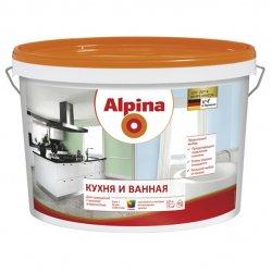 Краска ВД-ВАЭ Alpina Кухня и Ванная База 3, прозрачная, 2,35 л / 3,24 кг