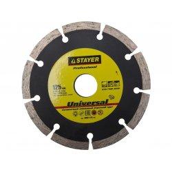UNIVERSAL 125мм диск алмазный отрезной по бетону кирпичу плитке STAYER Professional 3660-125_z01