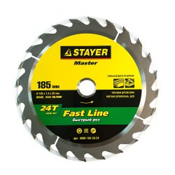 Диск пильный STAYER MASTER FAST-line по дереву 185х20мм,24Т 3680-185-20-24