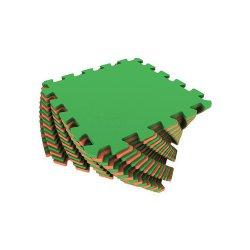 Коврик-пазл (оранжево-зелёный)