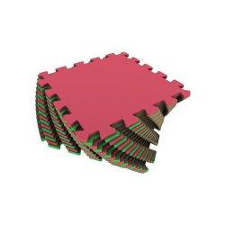 Коврик-пазл (красно-зелёный)