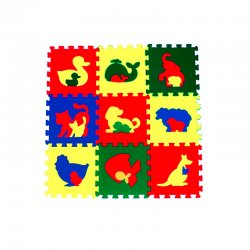 Коврик-пазл 33*33 (Животные)