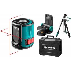 KRAFTOOL CL 20 №4 нивелир лазерный, 20м, IP54, точн. +/- 0,2мм/м, держатель, штатив, в кейсе 34700-4