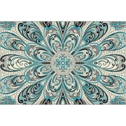 KOLIBRI (Ковер)  1,2*1,7  Серо–голубой орнамент 11215/190