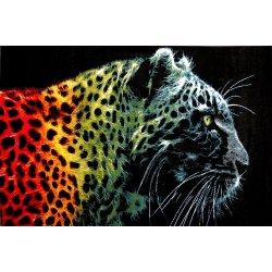 Ковёр KOLIBRI FRIZE 11016/180 1,60 х 2,30 Леопард на чёрном фоне
