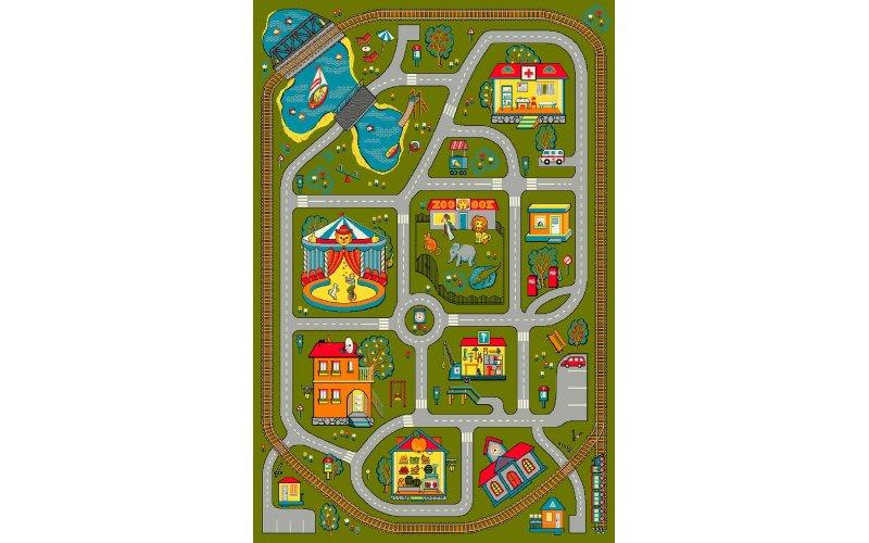 Детский коврик 1,33 х 1,9 11061/130 Город-дороги