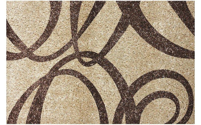 Ковёр Украина KOLIBRI FANTASY 12503/89 2,0 х 3,0 Бежевый с коричневыми лентами