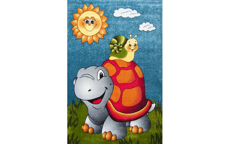 Детский коврик 1,60 х2,3 11111/140 Голубой / черепаха