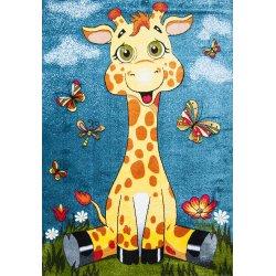 Детский коврик 1,60 х 2,30 11112/140 Голубой / жираф