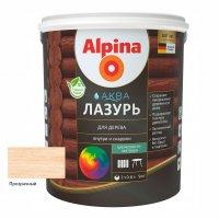 Лак акриловый водно-дисперсионный Alpina Аква Лазурь для дерева 0,9 л/0,90 кг