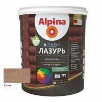 Лак акриловый водно-дисперсионный Alpina Аква Лазурь для дерева цветная, Орех, 0,9 л/0,90 к