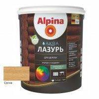 Лак акриловый водно-дисперсионный Alpina Аква Лазурь для дерева цветная, Сосна, 0,9 л/0,90
