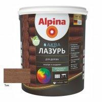 Лак акриловый водно-дисперсионный Alpina Аква Лазурь для дерева цветная, Тик, 0,9 л/0,90 кг