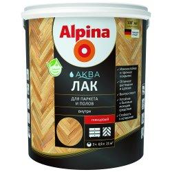 Alpina Аква Лак для паркета и полов глянцевый 0,9 л/0,90 кг