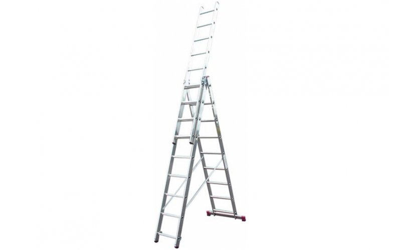 Алюминиевая лестница Corda  3х9  Н=2,5/3,75/5,3м  (010391)