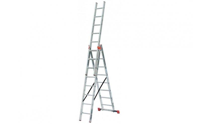 Алюминиевая лестница Tribilo 3х8 S,  H=2,55/3,7/5,2м (121301)