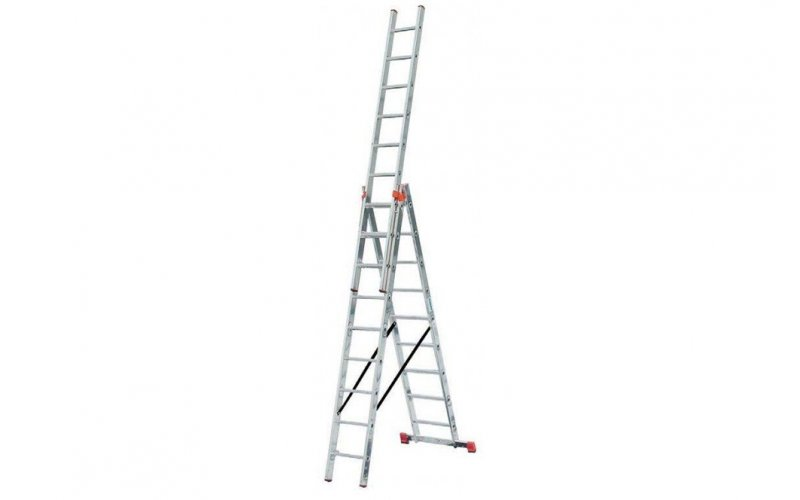 Алюминиевая лестница Tribilo 3х9 S,  H=2,7/4,2/6,05м  (120601)