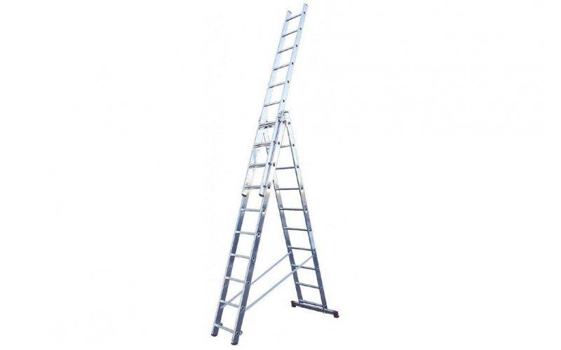 Алюминиевая лестница Tribilo 3х10 S,  Н=3,0/4,7/6,9м(120618)