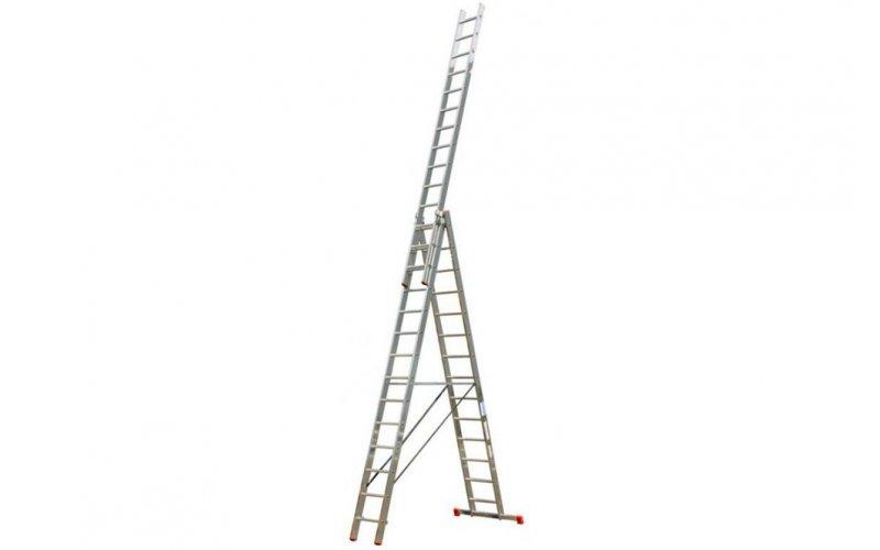 Алюминиевая лестница Tribilo 3х14 S,  Н=4,1/6,85/10,25м  (120717