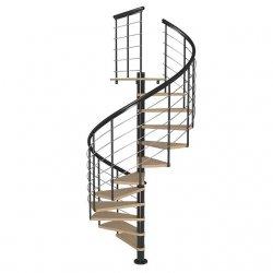 Лестница винтовая MONTREAL Антрацит 140 см высота 350 см
