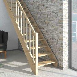 Лестница прямая PARIS бук лакированный без проступей 14 ступеней до 280 см