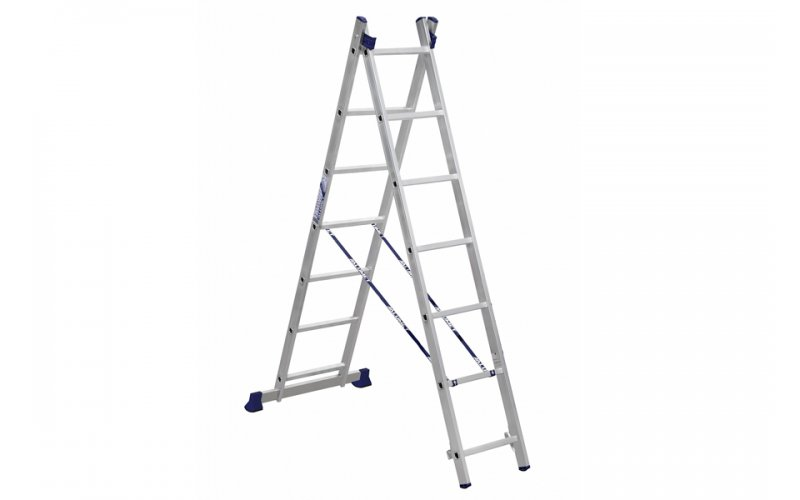 Алюминиевая лестница 2х7, Н=3,1/4,18м  (5207)