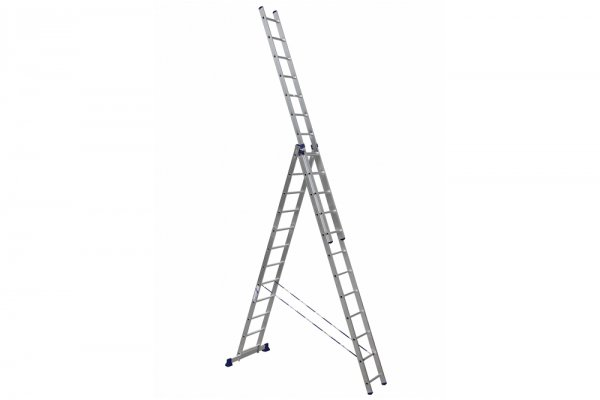 Алюминиевая лестница 3х12, Н=7,86/8,86м  (5312)