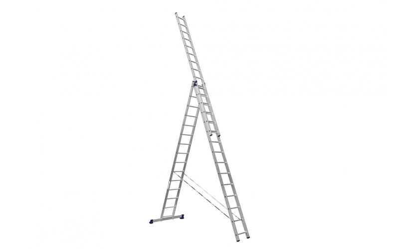Алюминиевая лестница 3х15, Н=10,95/11,8м  (6315)
