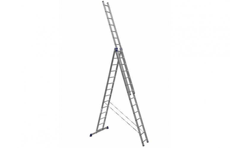 Алюминиевая лестница 3х14, Н=9,54/10,54м  (5314)