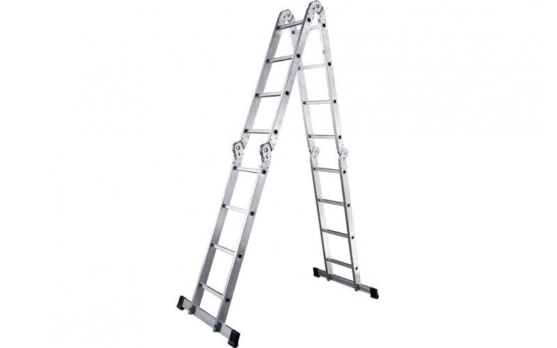 Алюминиевая лестница шарнирная (4х3), Н=3,4/4,3м  (ТL4033)