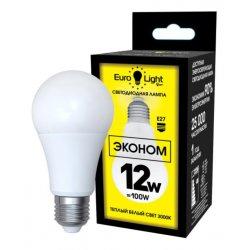Светодиодная лампа теплый белый свет цоколь Е27 12Вт