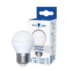 Светодиодная лампа теплый белый свет цоколь Е27 6 Вт