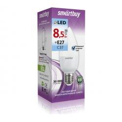 Светодиодная LED Лампа Smartbuy холодный яркий свет цоколь E27 8,5Вт