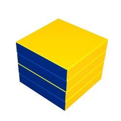 Комплект маты складной  синий ДМФ-ЭЛК-14.96.01, 1000х1000х100 мм