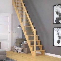 Лестница межэтажная Dolle Lyon бук лакированный