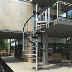 GARDENSPIN Винтовая лестница 11 ступеней, D=155cm, оцинкованная сталь, L/R