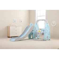 Детский игровой комплекс HT-4-3 Динозавр (голубой)