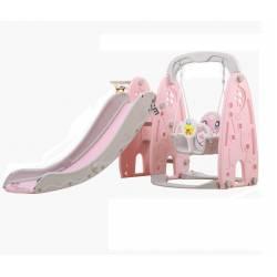 Детский игровой комплекс HT-4-3 Динозавр (розовый)