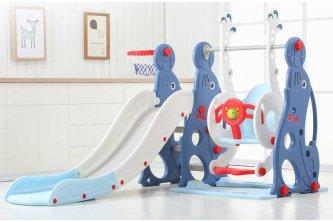 Детский игровой комплекс WM19020 Морской котик (голубой)