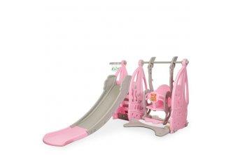 Детский игровой комплекс WM19016 Парусник (145*210*105см) (розовый)