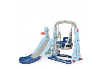 Детский игровой комплекс WM19072 Зайка (143*140*110см) (голубой)