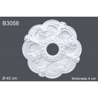 Декоративная розетка из полиуретана В3058 (d45.7см) (полиуретан)