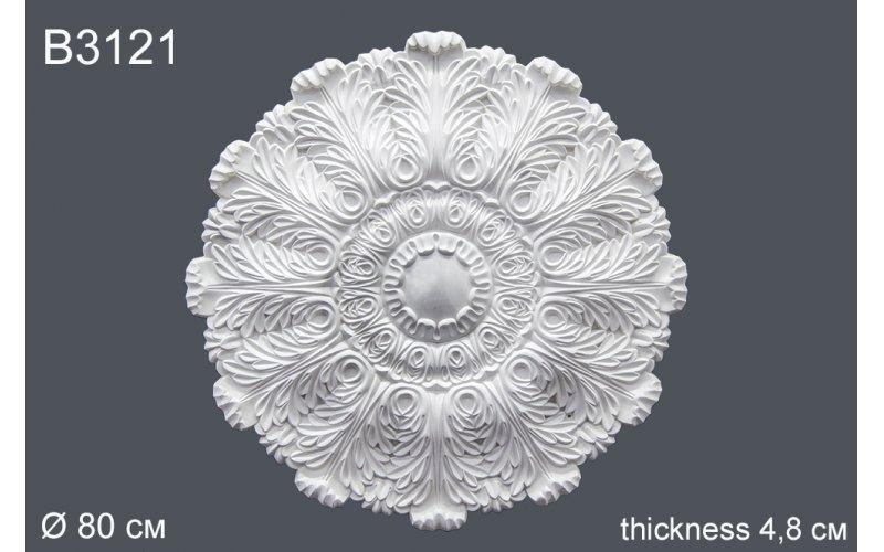 Декор розетка B3121 d 80 cm (полиуретан)
