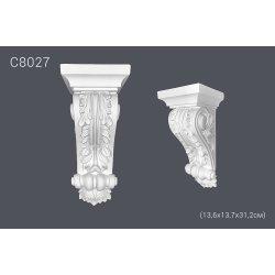 Декоративная консоль С8027 13,6х13,7х31,2см (полиуретан)