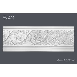 Молдинг для стен с рисунком АС274 (полиуретан)